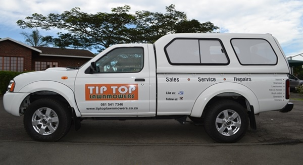 Tip Top Lawnmowers Vehicle